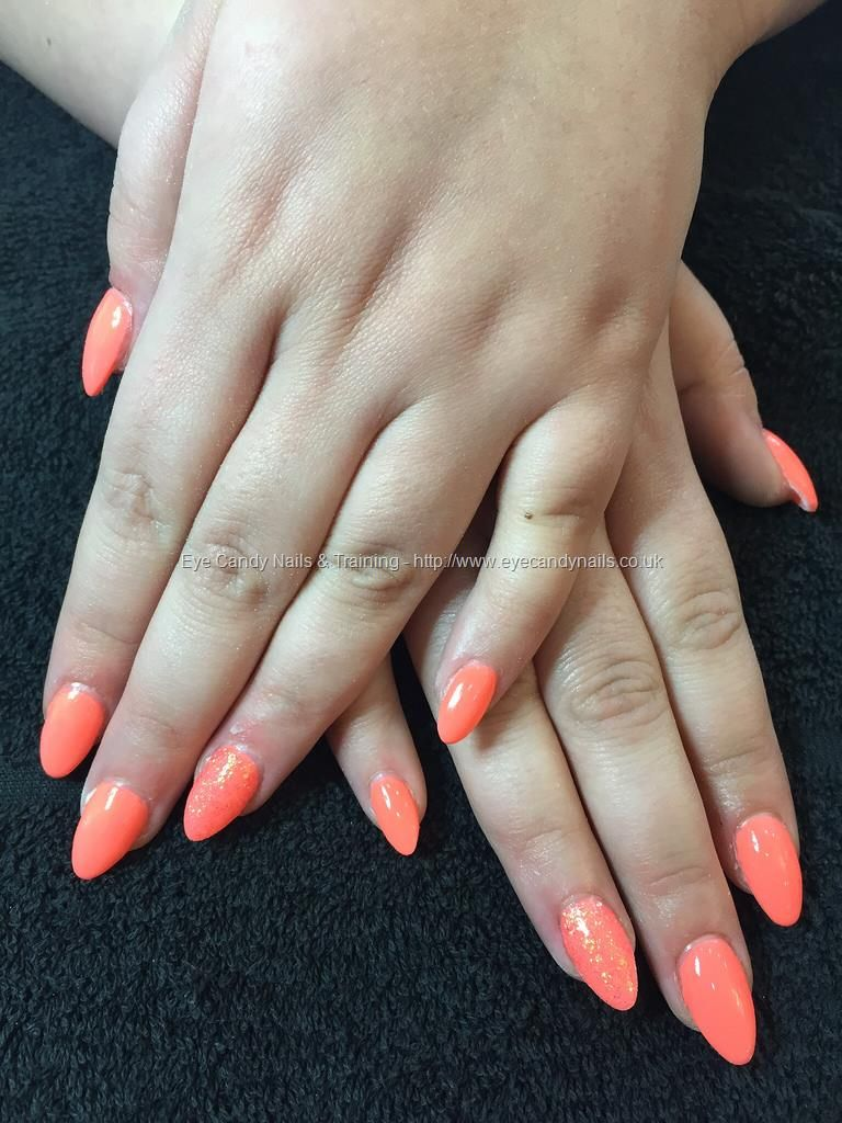 Peach Almond Shaped Nails | Nails | Pinterest | Almond shape nails ...