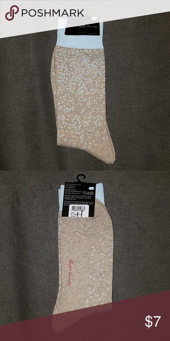 English Laundry Dots Socks Nwt Fashion Socks Color Khaki