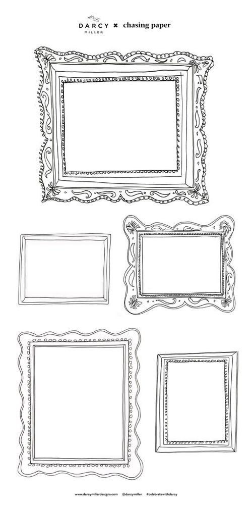 frame set one decals frame set chasing paper frame on hole in the wall cap oriental id=57033
