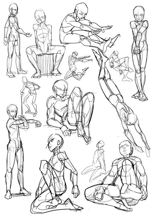 人體を描くのが苦手なやつが練習絵をアップするスレ   プロダクトスケッチ,スケッチの描き方,イラスト上達