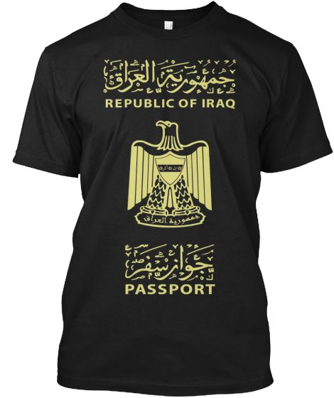 LiMiTeD TiMe - Iraq Passport T-Shirt | Teespring