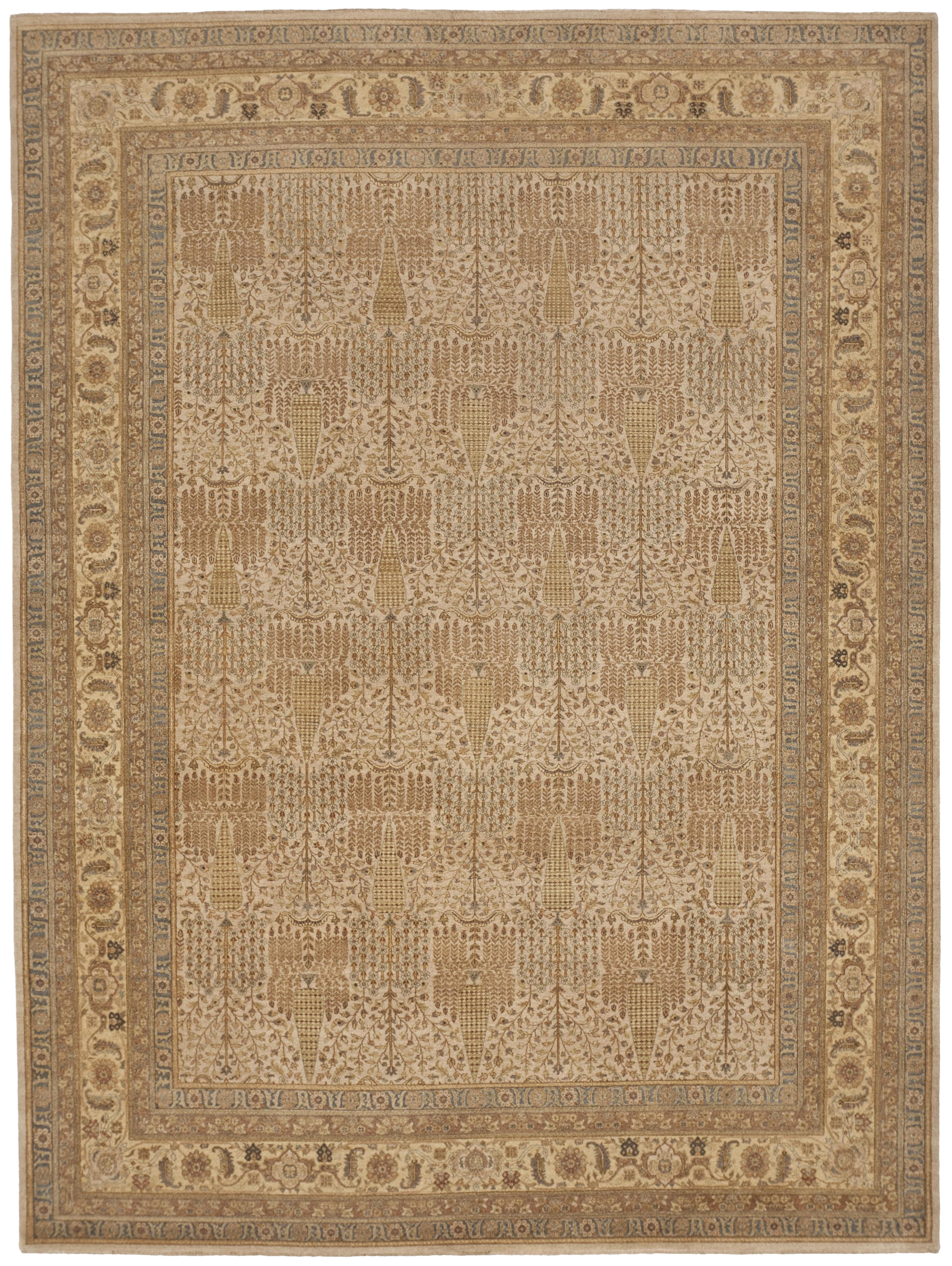 Hand Knotted Indian Rug 8 10 X 11
