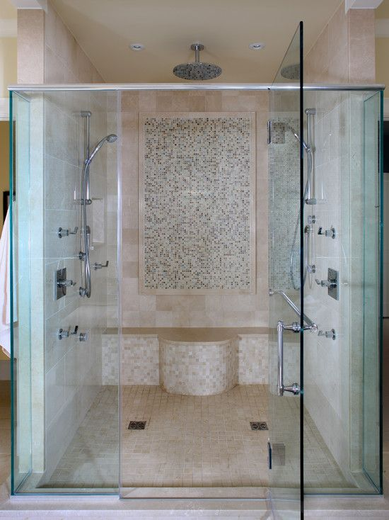 Various Dual Shower Designs Contemporary Bathroom Master Shower