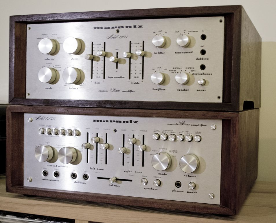 Marantz amplifier model 1200 and 1250 | Stereo equipment