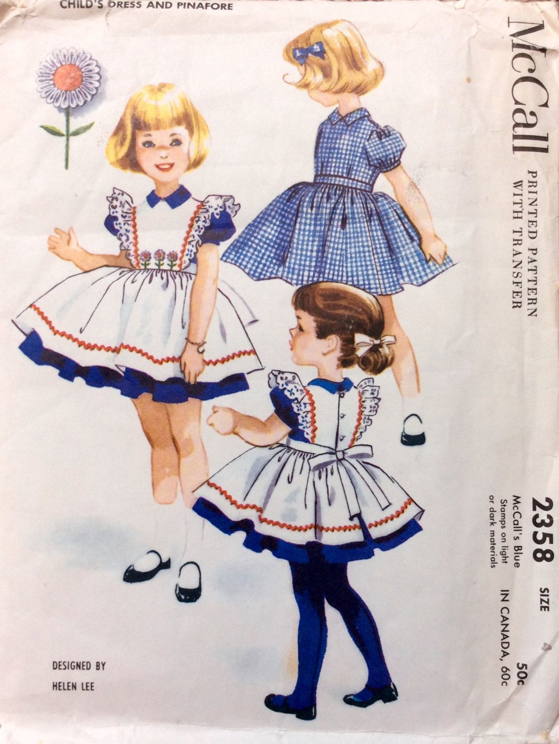 Mccall childus dress u pinafore childrenus sewing patterns