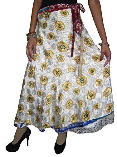 Wrapskirts Vintage Silk Sari Reversible White Grey Wrap Around Skirt for Womens Mogul Interior http://www.amazon.com/dp/B00ORGAYSG/ref=cm_sw_r_pi_dp_Fggsub0KVVSZ3