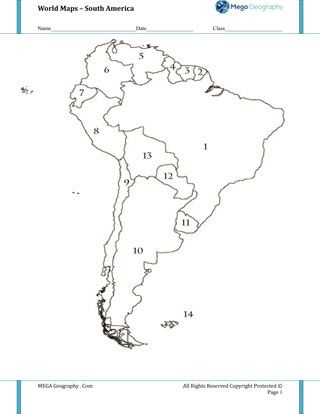 Map Quiz of South America Worksheet Mapping for Kids Pinterest Map quiz