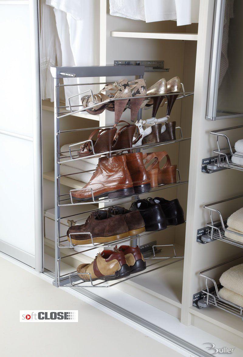 Five Tier Pull Out Shoe Rack Soft Close Shoe Rack Wardrobe Shoe Rack Storage Solutions Bedroom