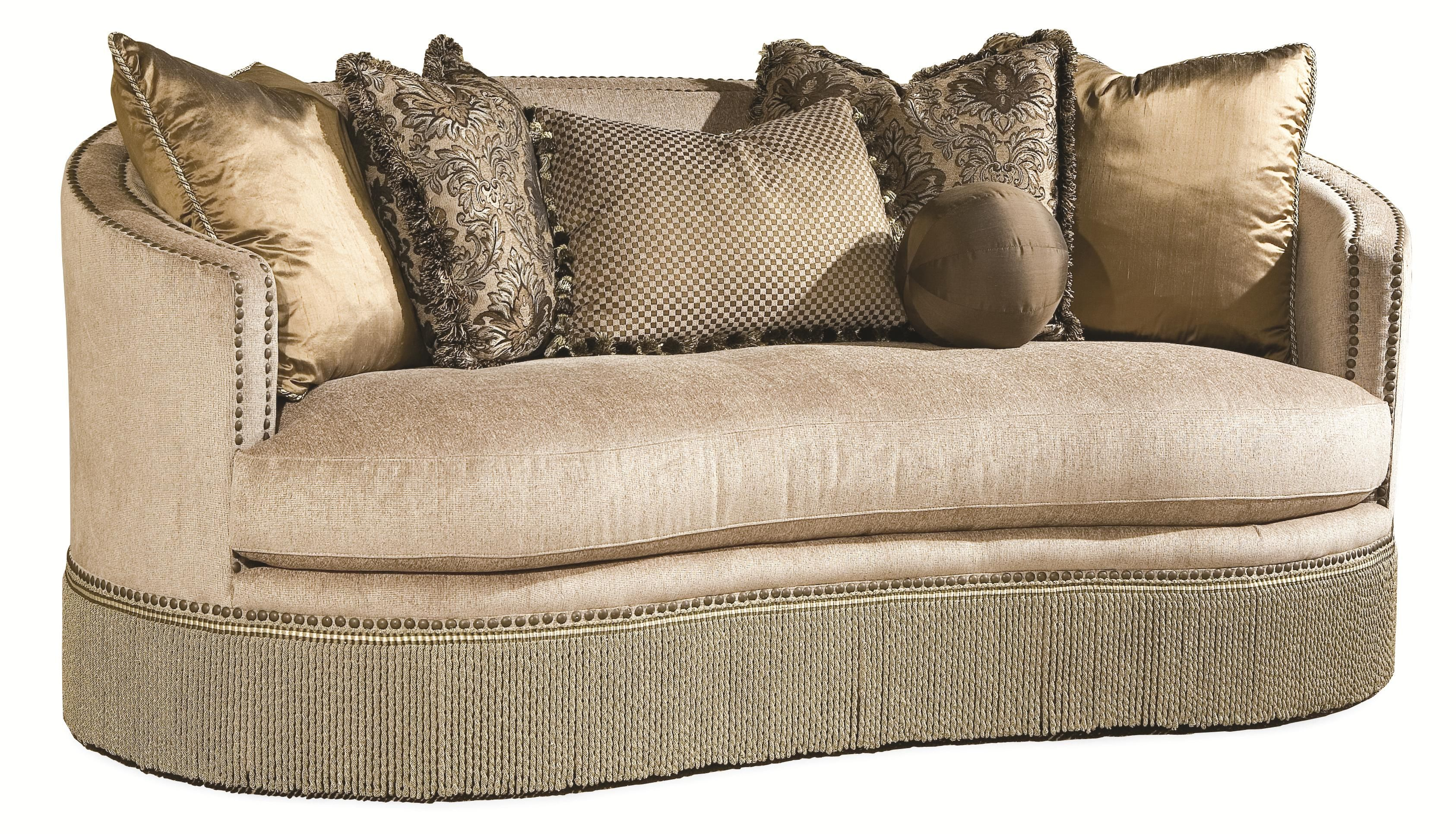 Whitney By Rachlin Kidney Sofa By Rachlin Classics At Olindeu0027s Furniture