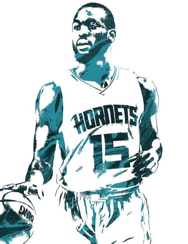 55d9ab7aa Kemba Walker Charlotte Hornets Pixel Art 5 Art Print by Joe Hamilton