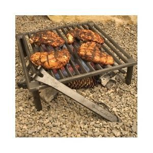 Campfire Grill Grate Iron Outdoor Camping Fishing Stove Open Fire Tripod Cook Campfire Grill Tuscan Grill Tuscan Fireplace
