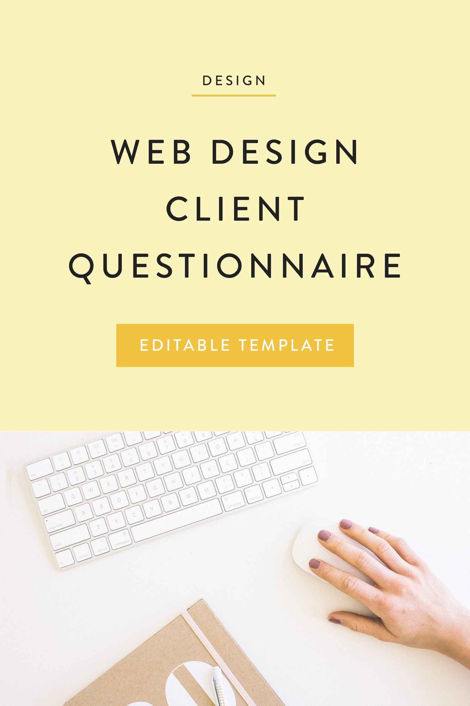 Client Questionnaire The Busy Bee Client Questionnaire Design Clients Questionnaire Template