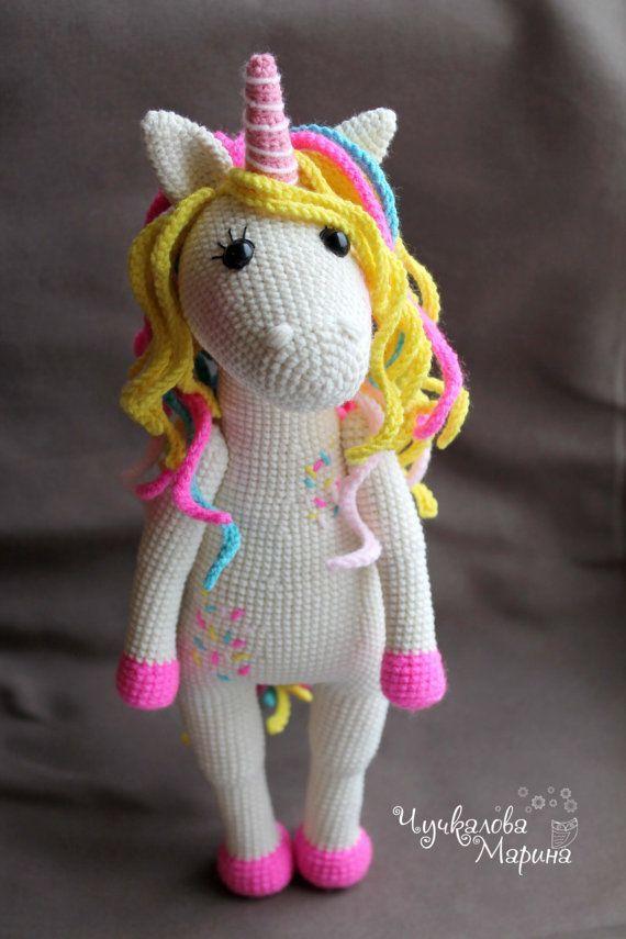 PATTERN Sweet unicorn PDF crochet toy pattern | Crochet toys ...