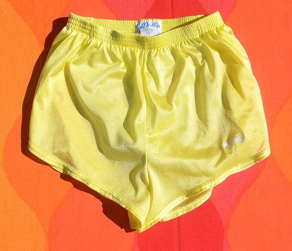 015d1cef82 vintage 70s jogging shorts DOLFIN running gym nylon silky women's ...