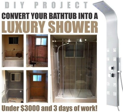How To Convert A Bathtub Into A Luxury Walk In Shower Tub To