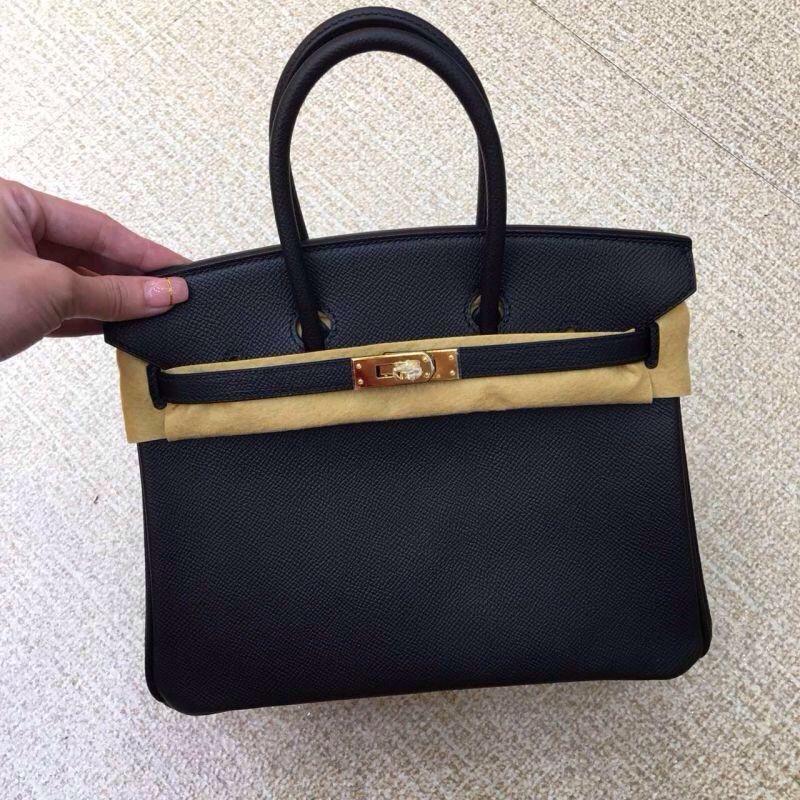 Hermes Black Epsom 25cm Birkin Leather Bag Gold Ghw Bnib 2015 for sale at ccbellavita.eu #hermesbag