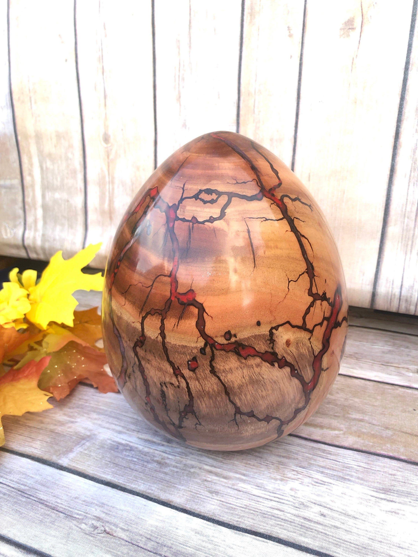 Resin And Wood Dragon Egg Hand Hand Turned Wood And Resin Etsy Wood Turning Wooden Eggs Dragon Egg