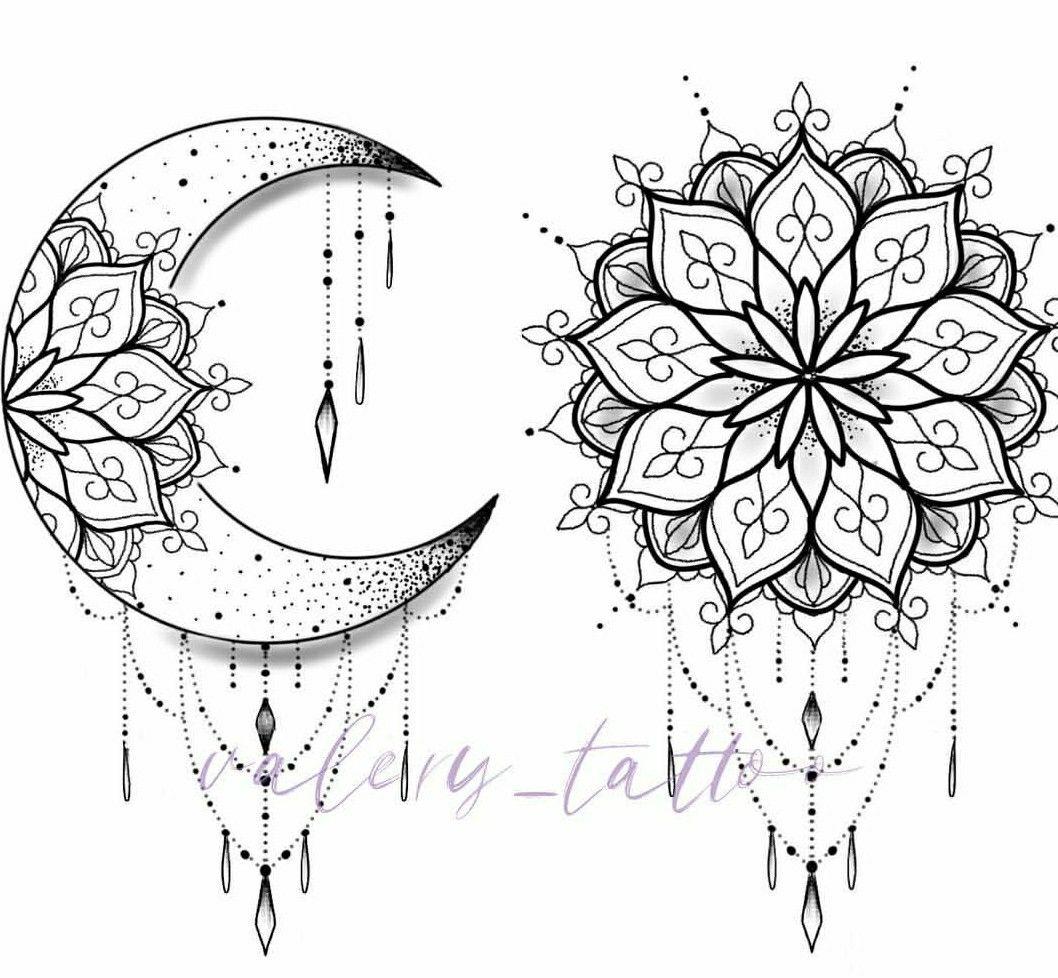 Valery Tattoo Moon Tattoo Designs Mandala Tattoo Design Mandala Tattoo