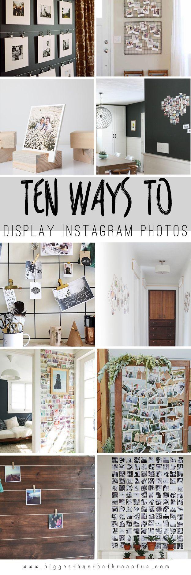 Home Design Ideas Instagram: 10 Ways To Display Instagram Pictures