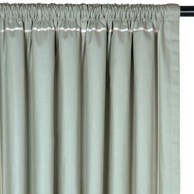 "Eastern Accents Vera Drapery Rod Pocket Single Curtain Panel Size: 48"" W x 108""  L"