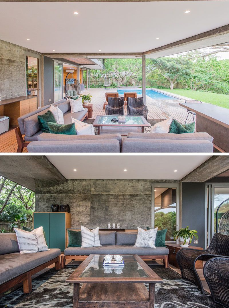 An Outdoor Lounge Adds Extra Living Space To This South ...