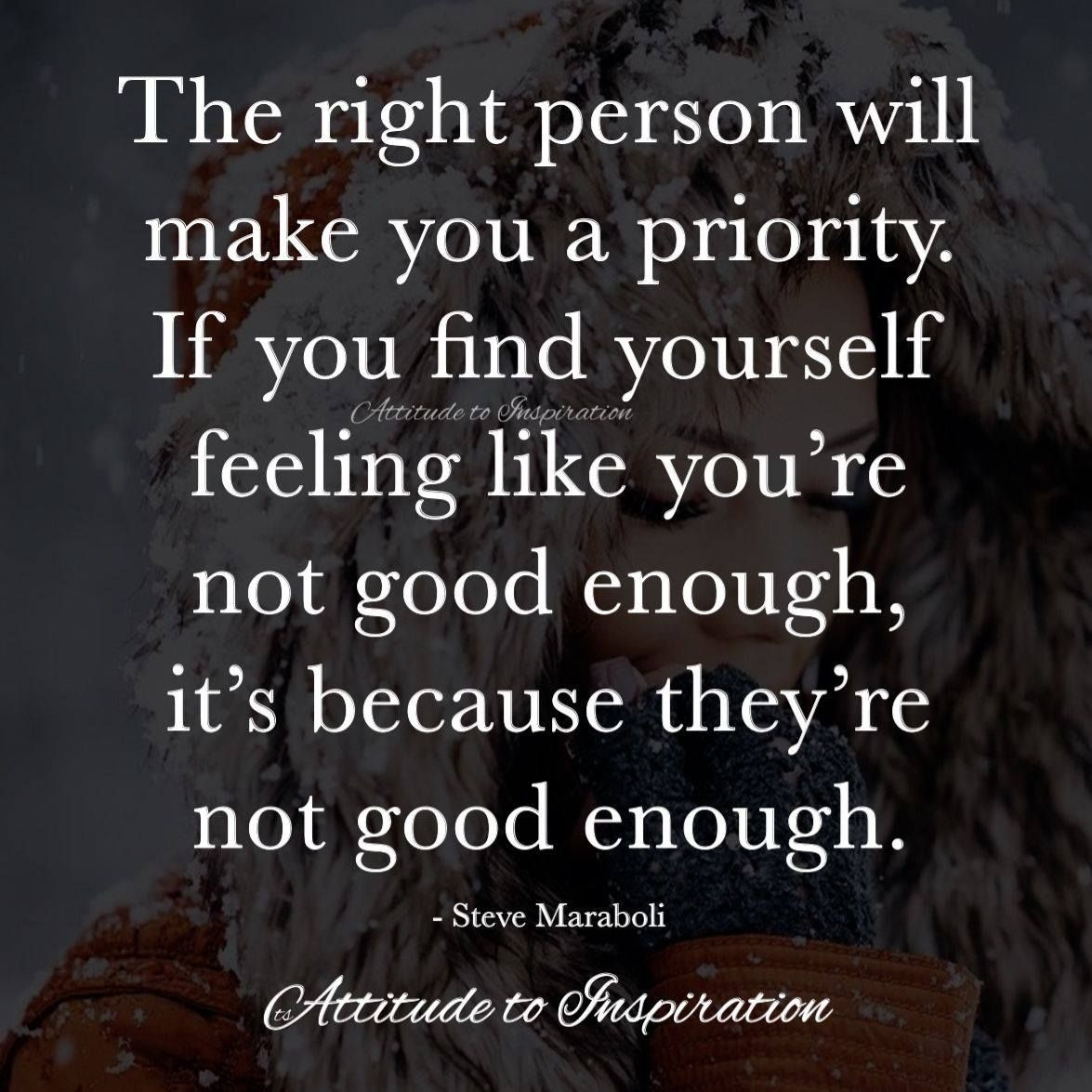 how to make yourself good enough for someone