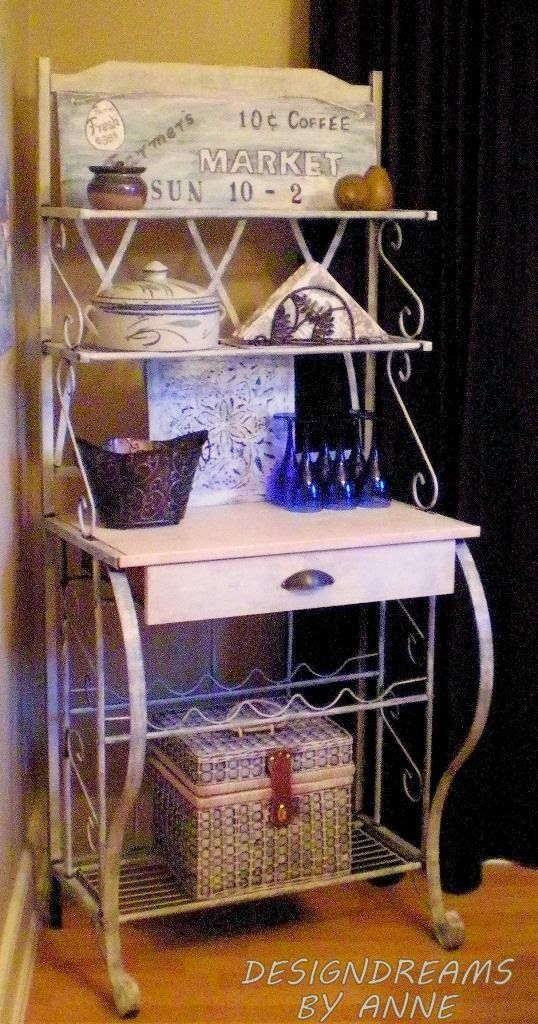 Designdreams By Anne Baker S Rack Makeover Shabby Chic Look