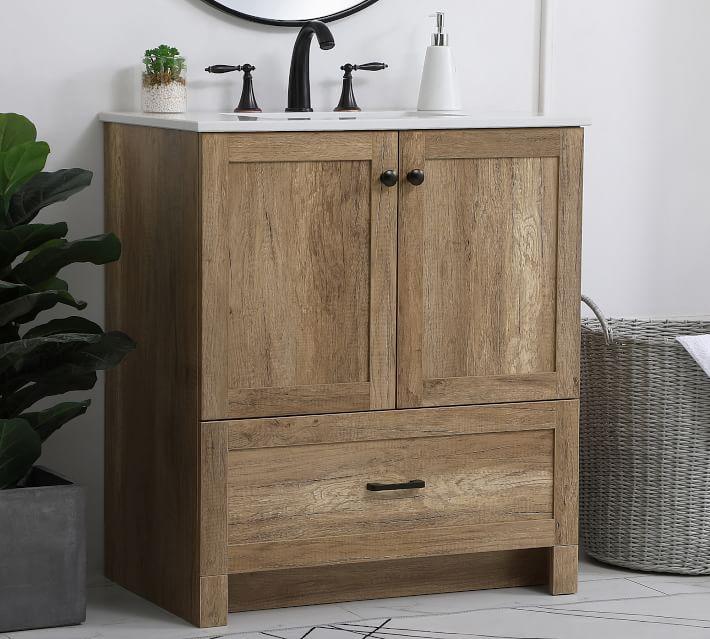 35++ Small oak vanity inspiration