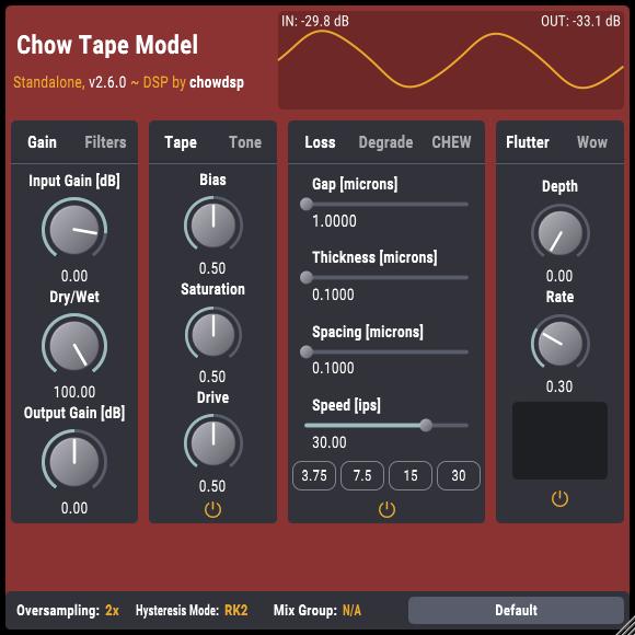 Chowdhury DSP releases free CHOW Tape analog tape machine