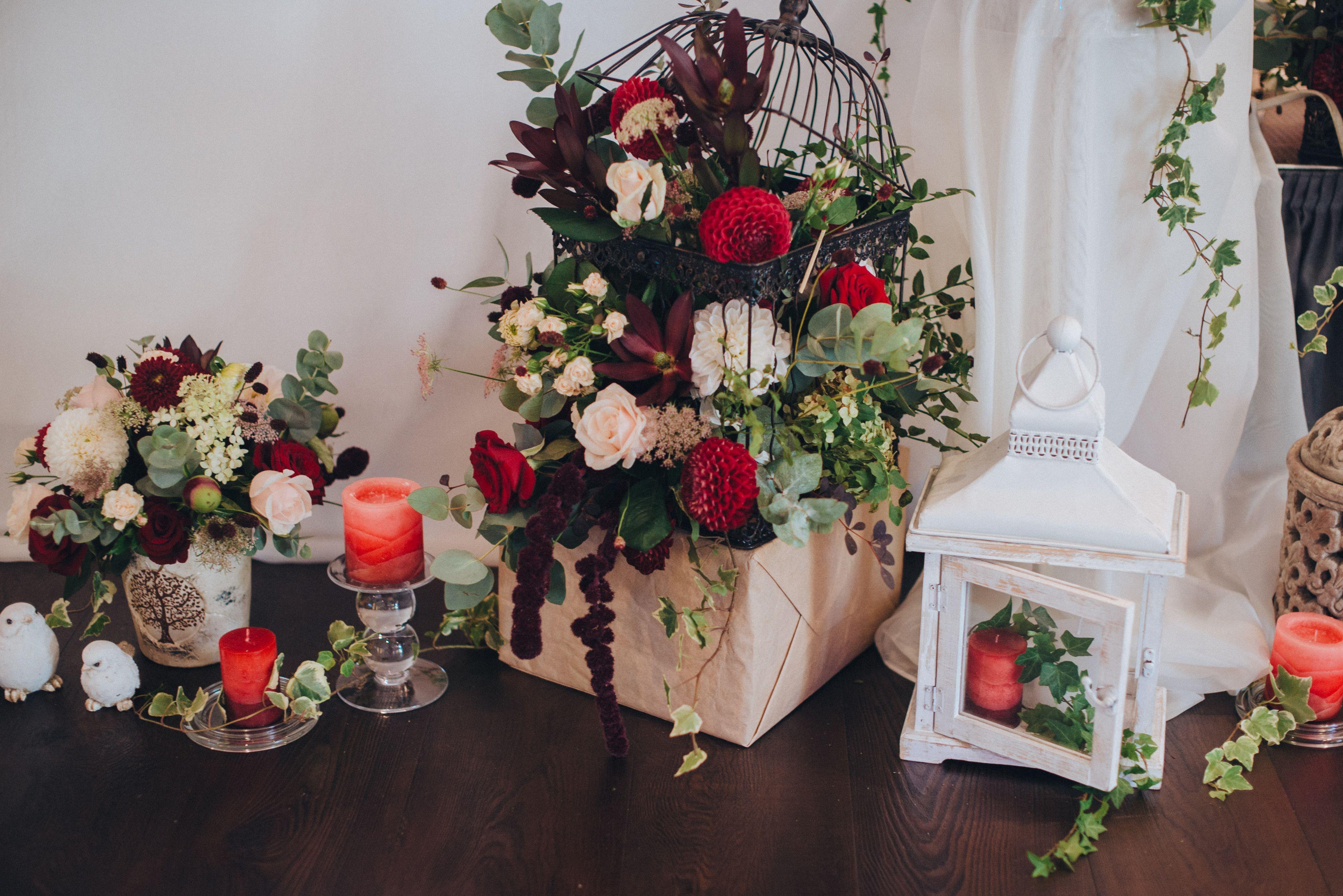 Flower Composition Wedding Decor Composition