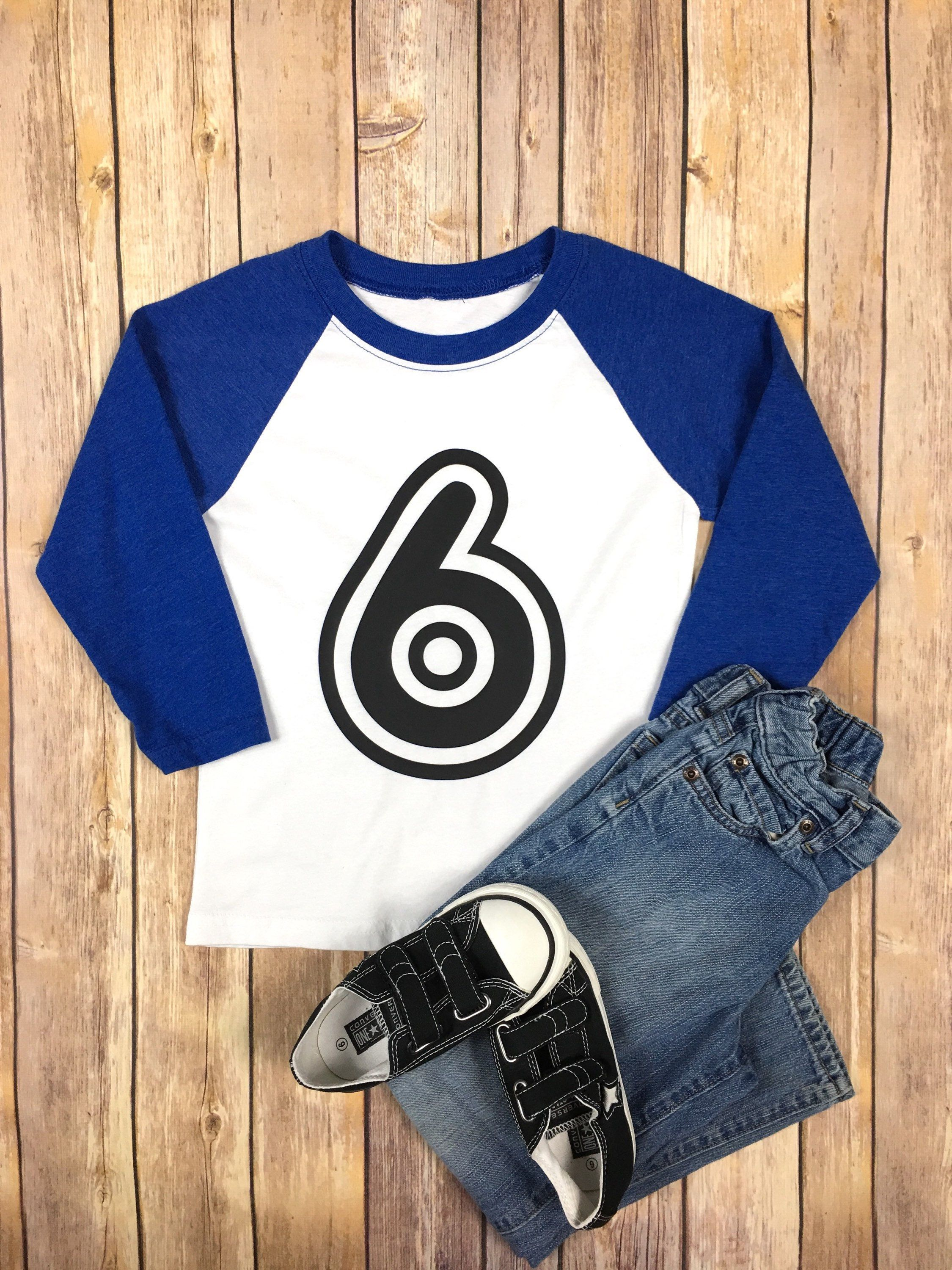Birthday Shirt Number 6th Kids Raglan 7th Outfit 8th Party By SaxSews On