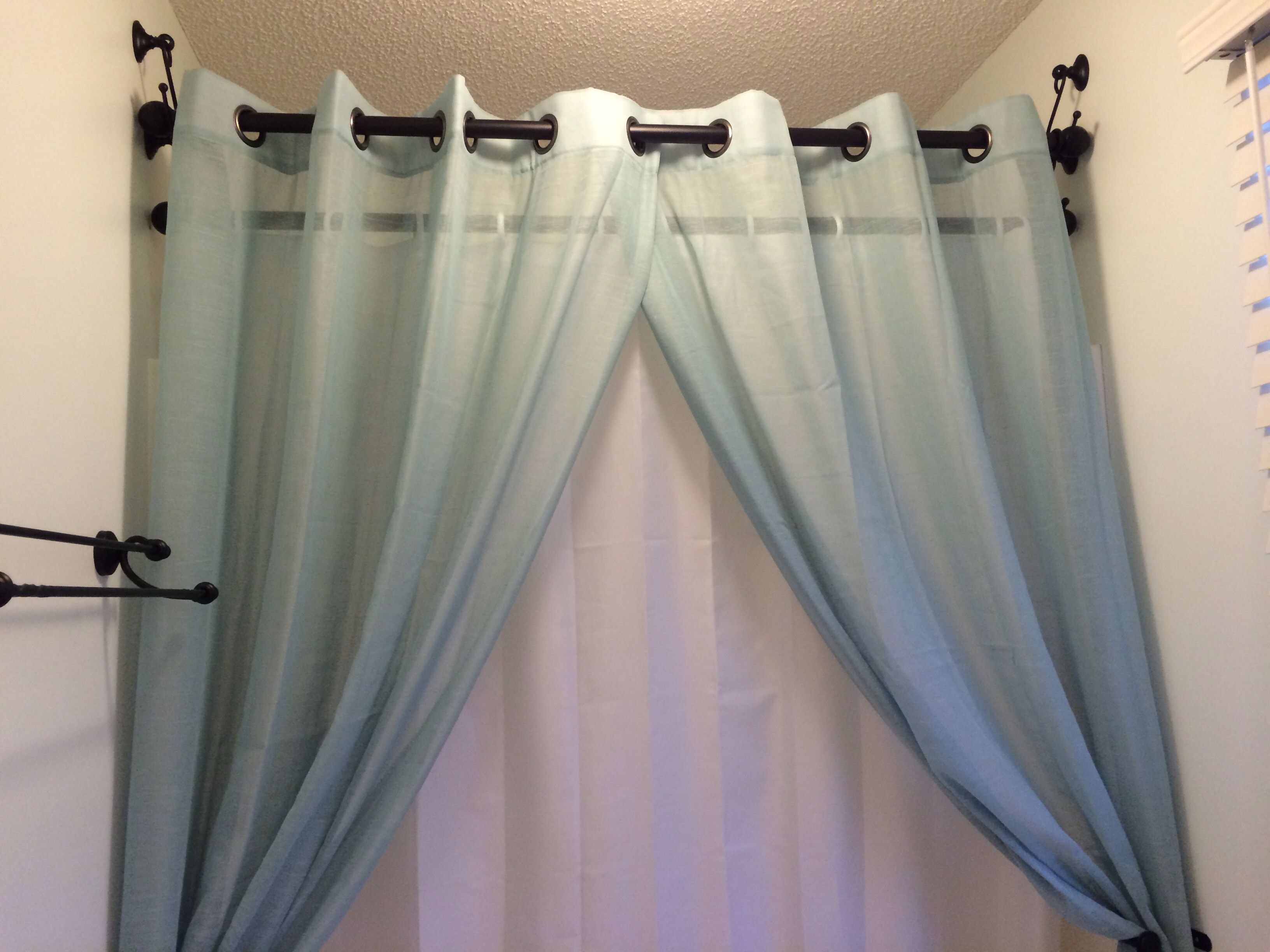 Regular Curtain Rods And Tie Back Hooks For Shower Curtain Rods