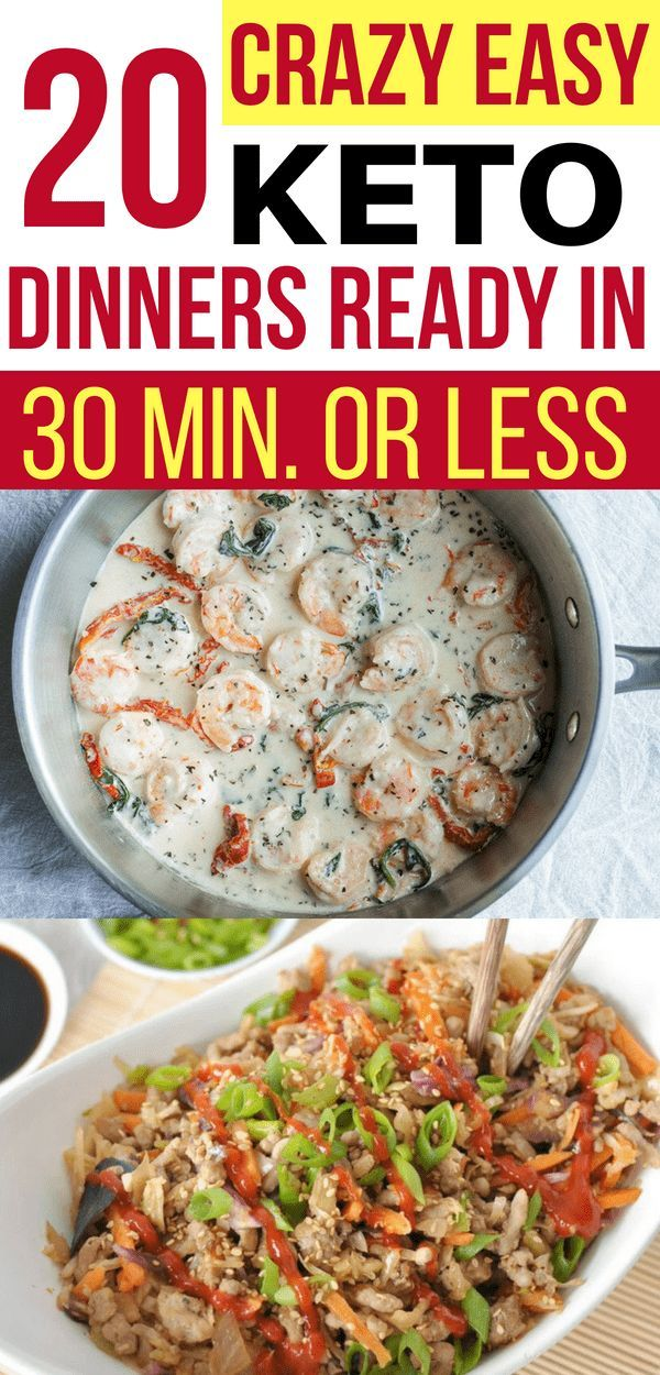 20 Low Carb Dinners - Quick & Easy (Keto images