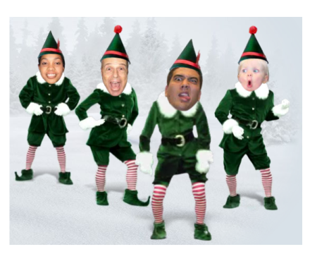 Dancing Elves Top The Charts Officemax S Perfect Viral Campaign Elf Yourself Christmas Photo Cards Dancing Santa