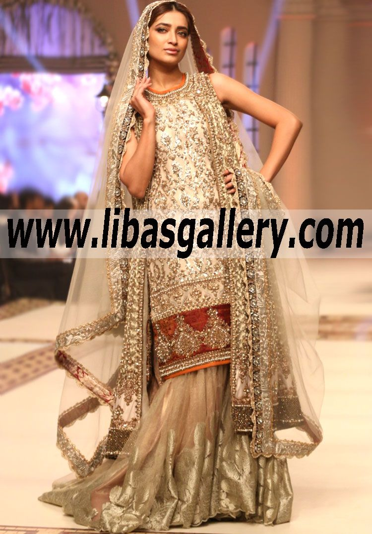 Magnificent bridal gharara dress features marvelous and lovely magnificent bridal gharara dress features marvelous and lovely embellishments for reception and special occasions ammar ombrellifo Images
