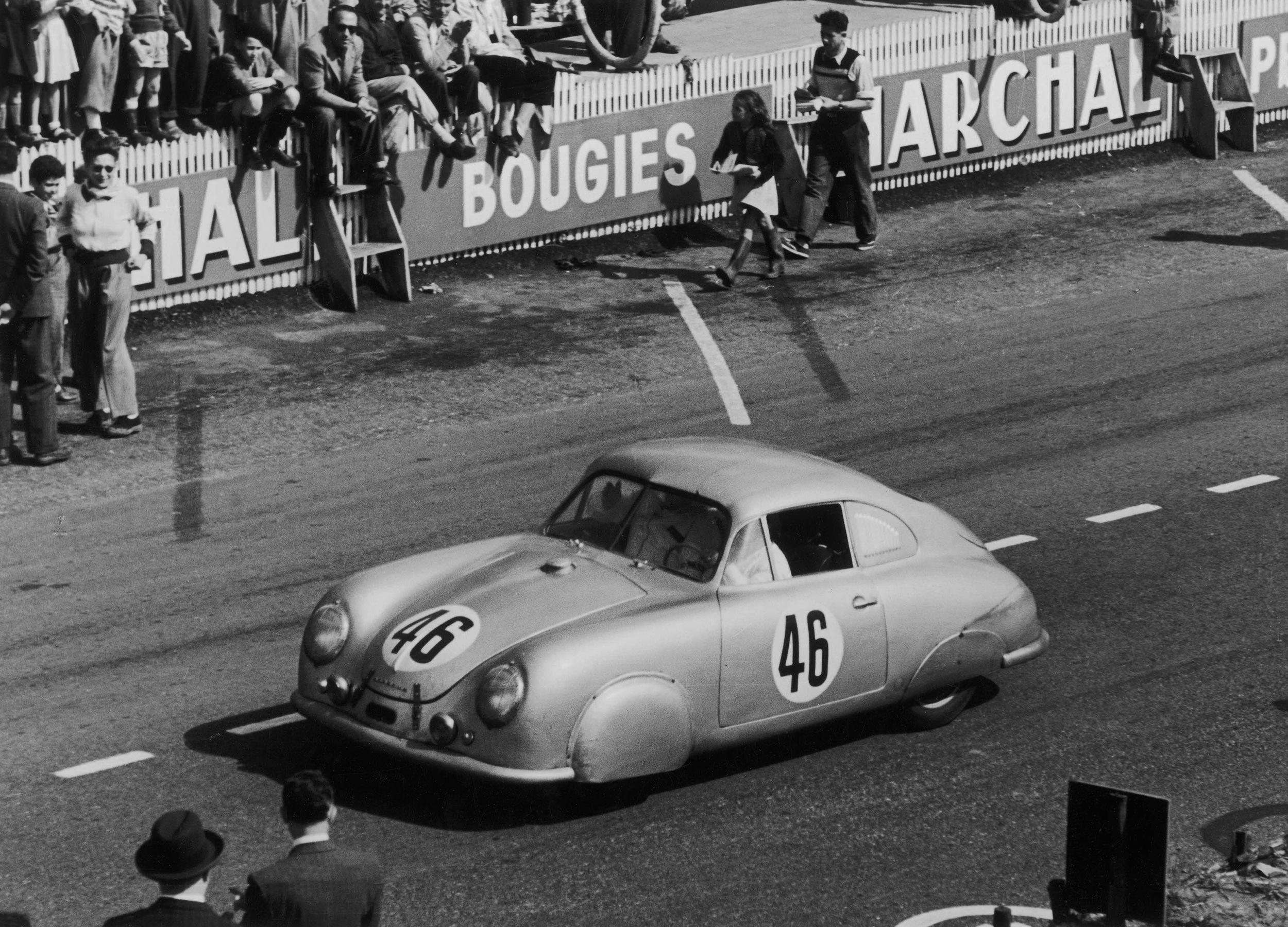 Porsche 356 2 sl 1951 lemans 1100 class winner luftkyld pinterest porsche 356 le mans and - Garage volkswagen le mans ...