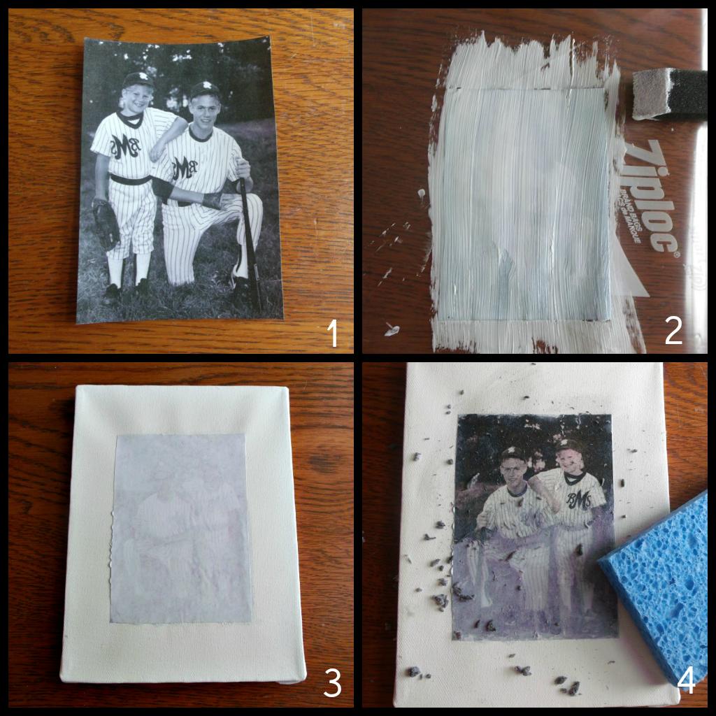 A Creative Princess Tutorial Mod Podge Photo Transfer Photo Transfer Canvas Photo Transfer