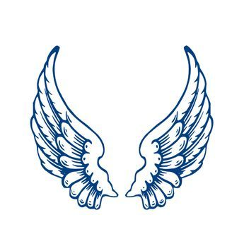 angel wings template largeangelwings clip art vector clip art rh pinterest com angel wing clip art images angel wings clip art black and white
