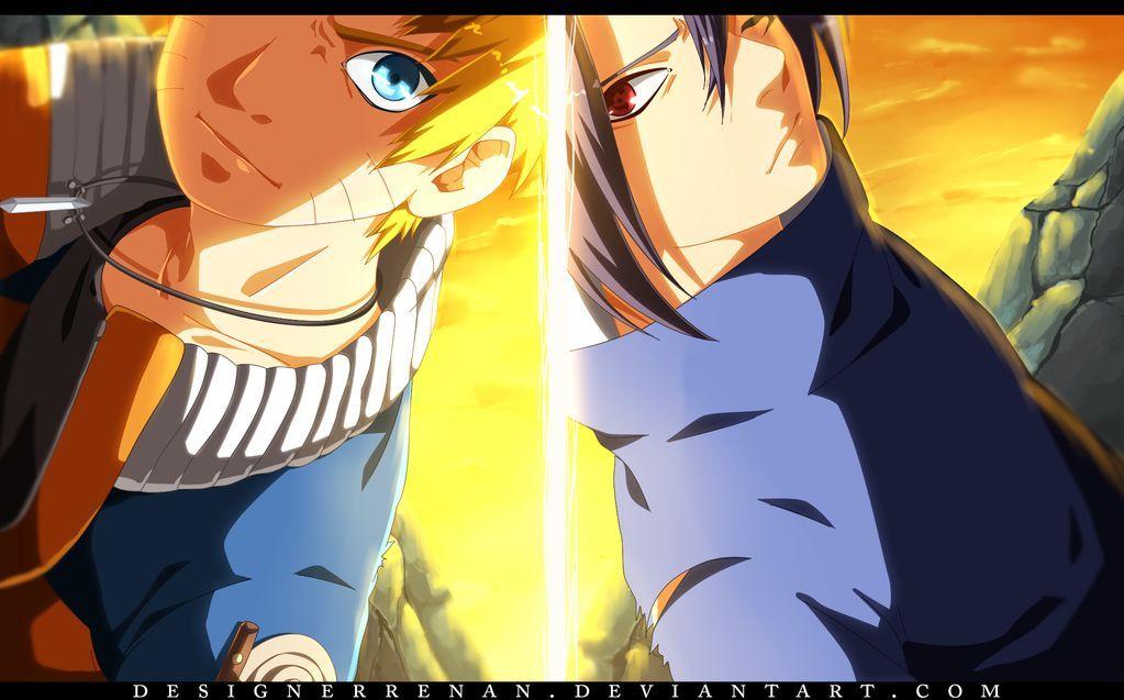 Coloriage Naruto Vs Sasuke a Imprimer Gratuit Coloriage
