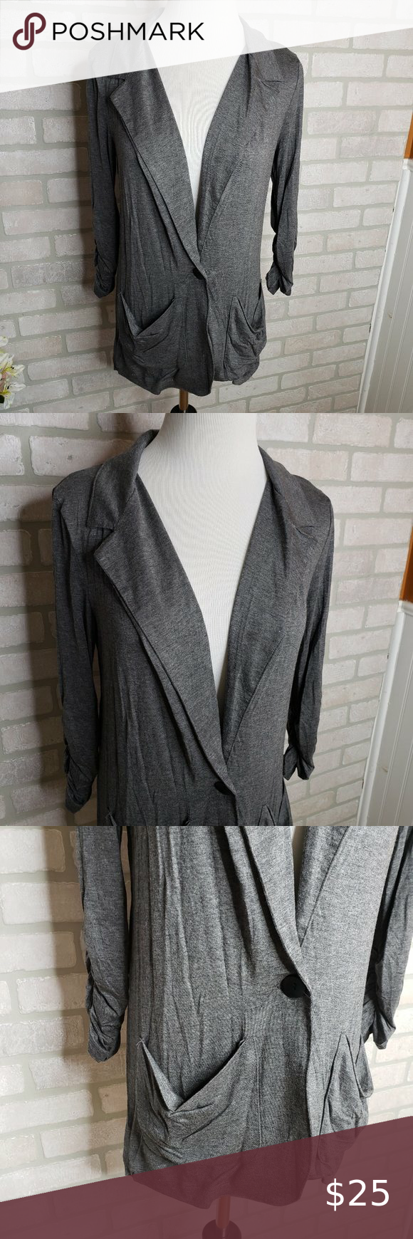 Daytrip Gray Slouchy Pocket Cardigan Great condition Size Medium  Thanks for shopping Wanderland Thrift! I'm always open to all offers. Measurements are available upon request.  No modeling. No holds. I ship same day or next day. Items are packaged in a reusable clear poly for protection before being packaged for shipping.  Thanks for supporting a local business! daytrip Sweaters Cardigans