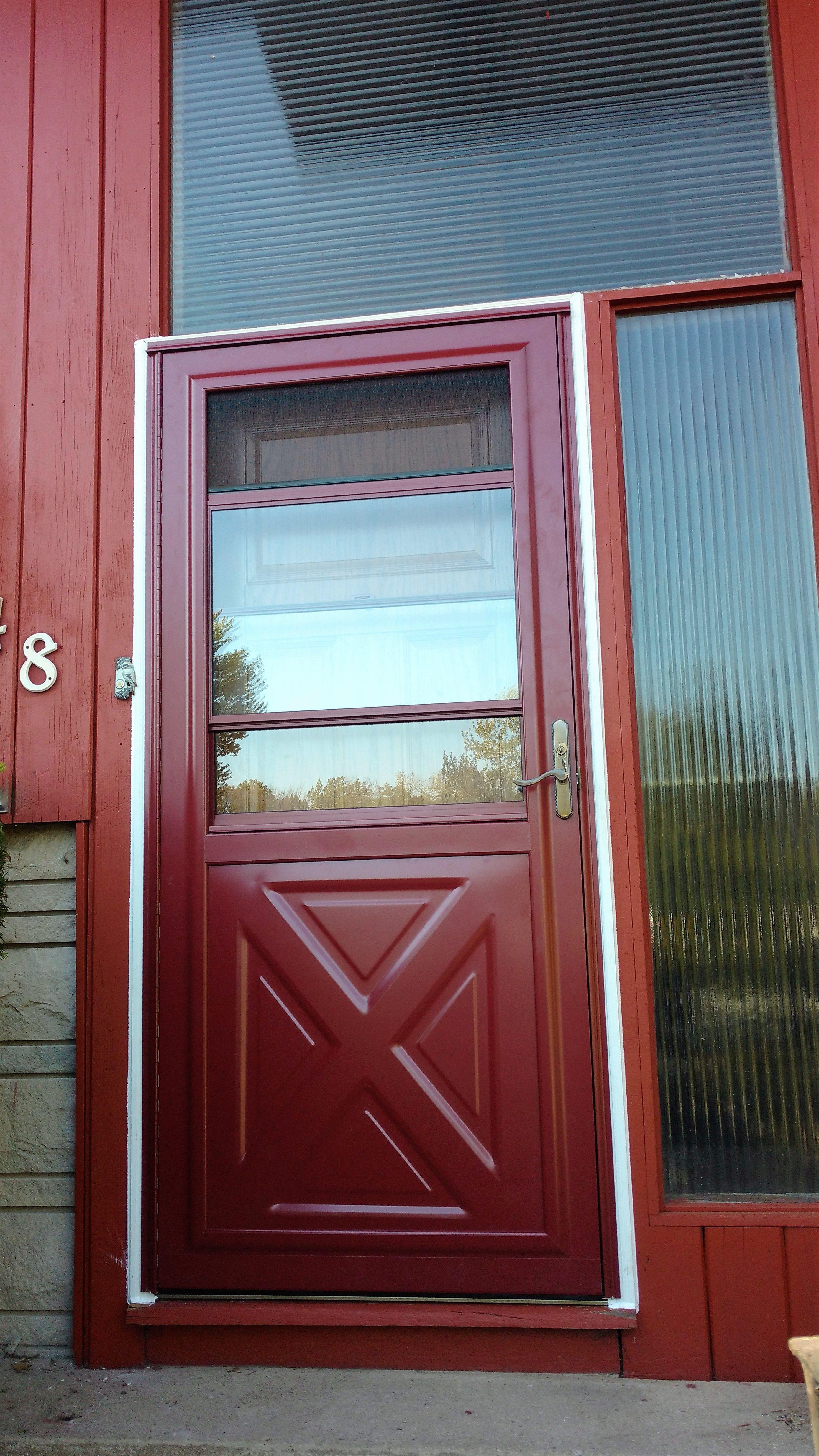 Preferred Window And Door Storm Door In Color Mountain Berry Window Installation Storm Door Garage Service Door