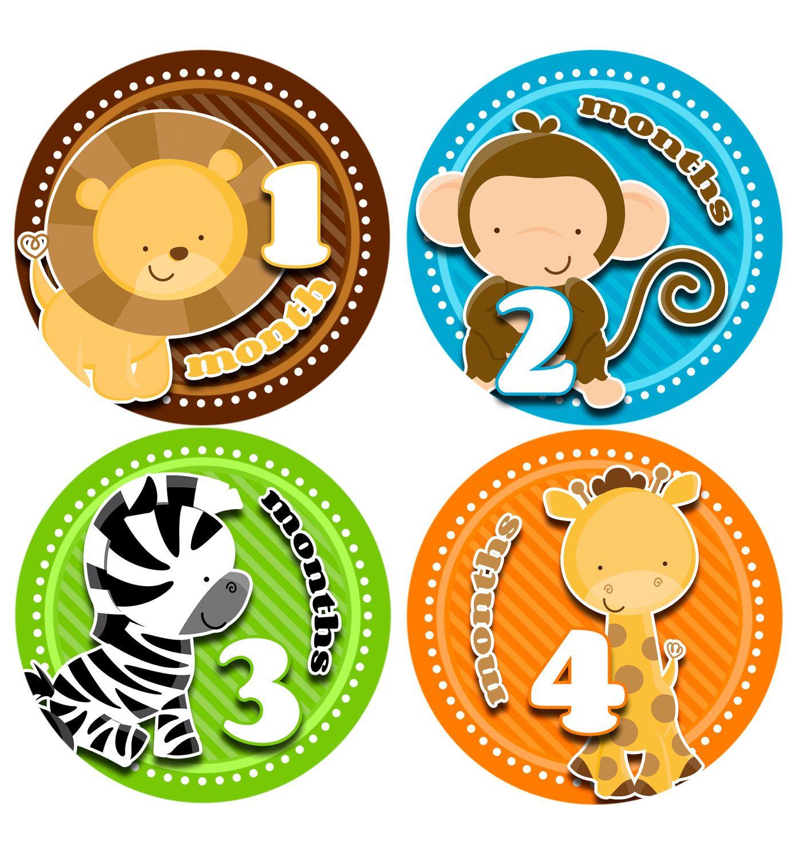 Superb Monthly Onesie Stickers Free Newborn Set Baby Boy Milestone Download Free Architecture Designs Barepgrimeyleaguecom