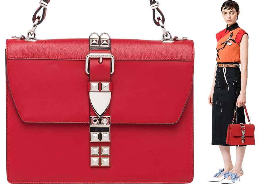 82c142134228 Are The Studs On Belt Going To Work For Prada? Meet The New Elektra Bag  Here.