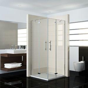 Premium Bi Fold Shower Door 900x900mm Folding Shower Enclosure Double Door Corner Entry Cubicle Shower Enclosure Shower Enclosure Doors Shower Cubicles