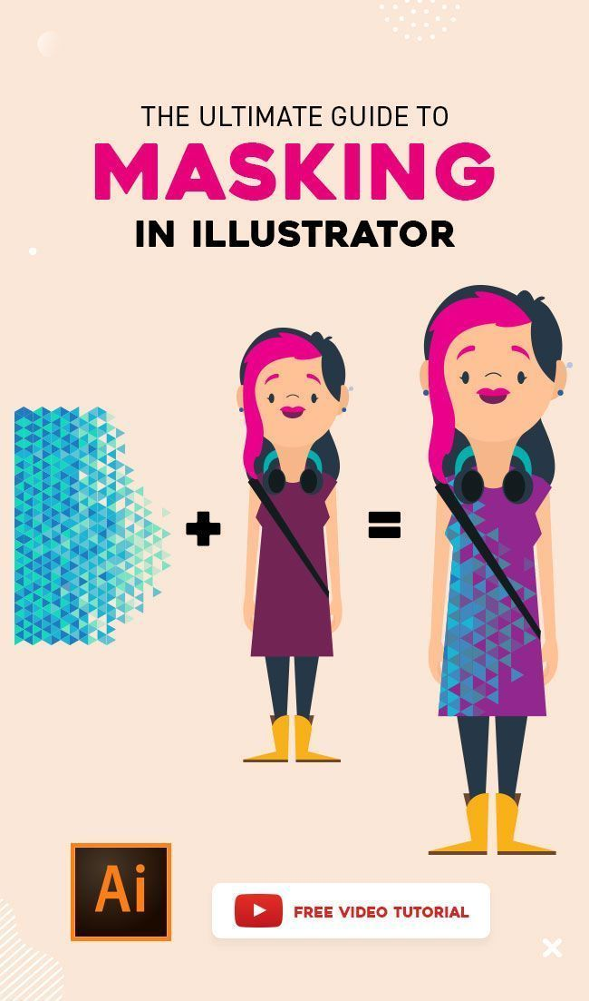Learn to create Masks in Illustrator! Creating or using a Clipping Mask basically means you are using one object to mask or hide part of another object. #adobeillustrator #photoshop