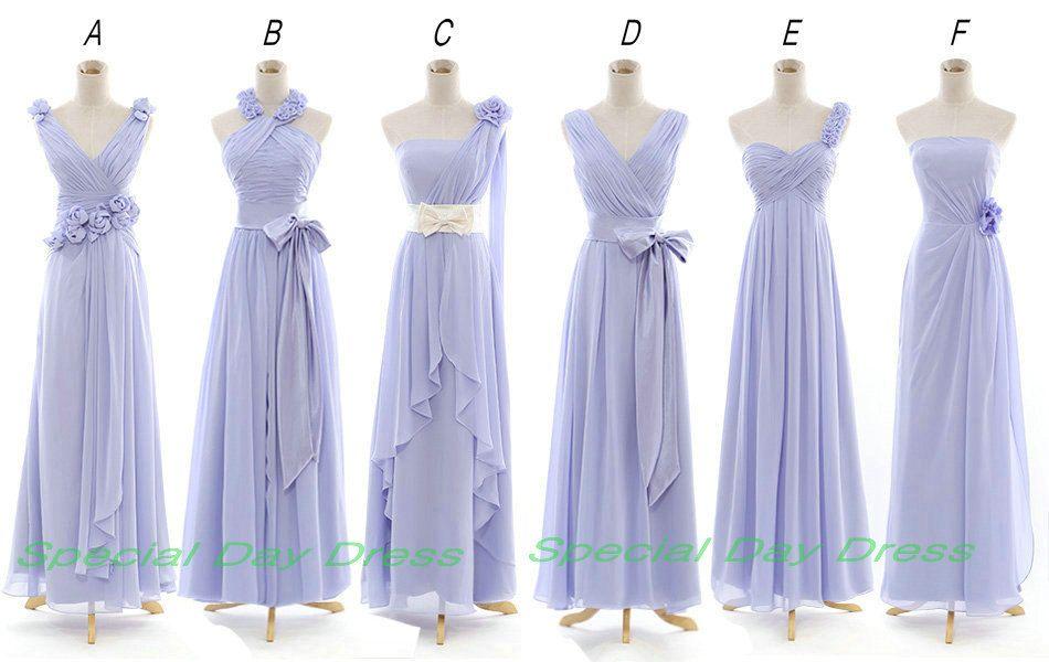 Lavender / light Purple Long Bridesmaid Dress by SpecialDayDress ...