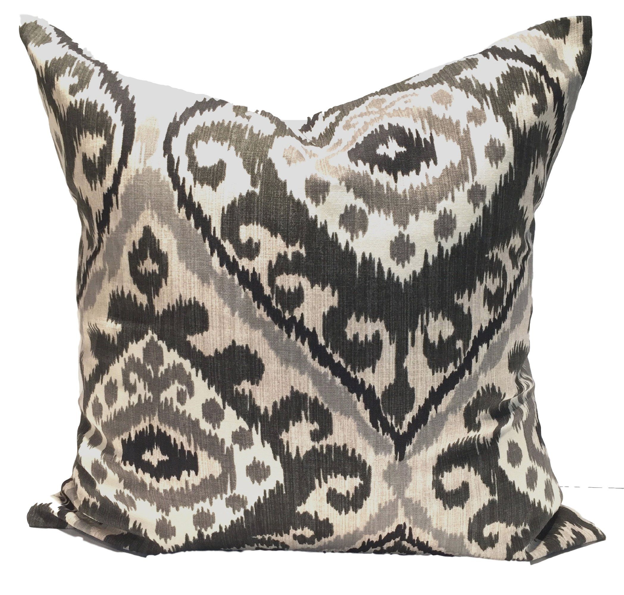 Peachy Black Tan Large Ikat In 2019 Black Pillow Covers Ikat Gmtry Best Dining Table And Chair Ideas Images Gmtryco