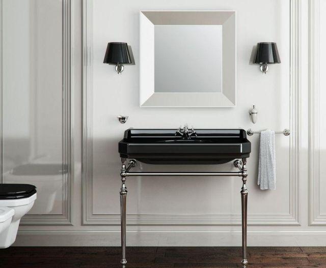 Salle de bain rétro - 28 idées uniques d\u0027aménagement et déco 28 - lavabo retro salle de bain