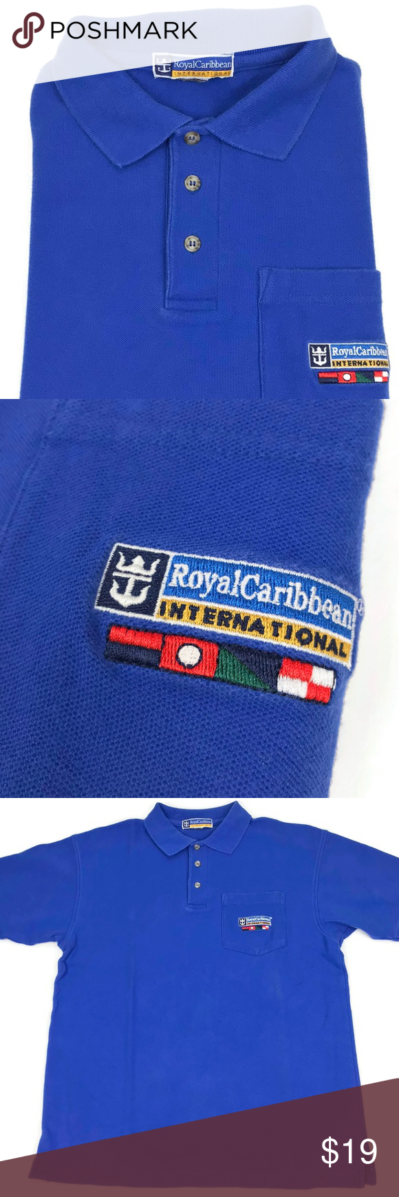 Royal Caribbean Polo Shirt Men's Size Small Medium (With