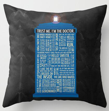 Barato Criativo caixa de polícia Doctor Who estilo de arte quarto lance fronhas…